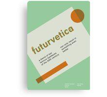 futurvetica GREEN/ORANGE Canvas Print