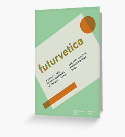 futurvetica GREEN/ORANGE Greeting Card