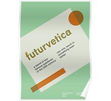 futurvetica GREEN/ORANGE Poster