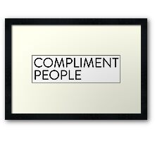 Compliment People [rectangle] Framed Print