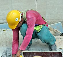 Hard Work, Hard Hat by phil decocco