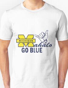 Go Blue HAWAII! Mahalo Unisex T-Shirt