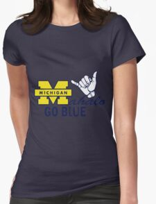 Go Blue HAWAII! Mahalo Womens Fitted T-Shirt