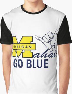 Go Blue HAWAII! Mahalo Graphic T-Shirt