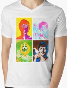 John, Paul, Ringo and Goerge Mens V-Neck T-Shirt