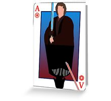 Star Wars Playing Card Greeting Card
