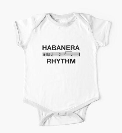 Habanera rhythm black One Piece - Short Sleeve