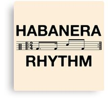 Habanera rhythm black Canvas Print