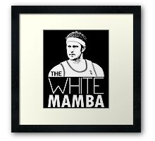 The White Mamba Framed Print