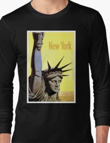 Vintage Travel Poster - New York Long Sleeve T-Shirt