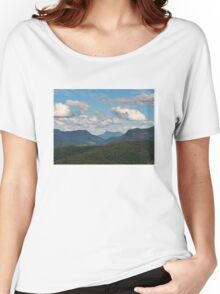 Beechmont ,from Rosins Lookout view to Mt WArning Women's Relaxed Fit T-Shirt