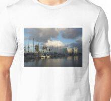 Dramatic Tropical Storm Light Over Ala Wai Harbor, Honolulu, Hawaii  Unisex T-Shirt