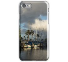Dramatic Tropical Storm Light Over Ala Wai Harbor, Honolulu, Hawaii  iPhone Case/Skin