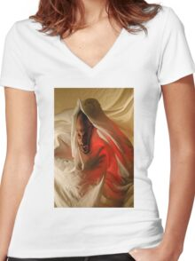 Sickness Women's Fitted V-Neck T-Shirt