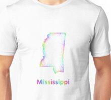 Rainbow Mississippi map Unisex T-Shirt