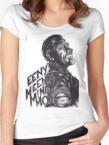 """Negan : """"EenyMeenyMineyMoe"""" Women's Fitted Scoop T-Shirt"""