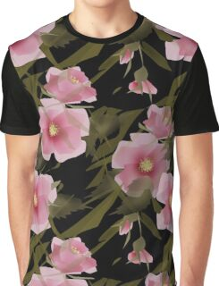 Seamless pattern floral . Pink flowers. Graphic T-Shirt