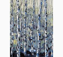 Winter Birch lll by Lisa Elley. Palette knife painting in oil T-Shirt