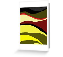 Africa abstract design by Moma Greeting Card