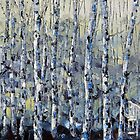 Winter Birch lll by Lisa Elley. Palette knife painting in oil by lisaelley