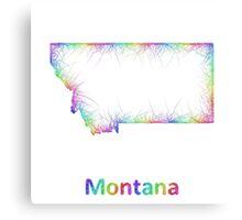 Rainbow Montana map Canvas Print