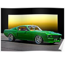 1968 Ford Mustang Fastback II 'Muscle Machine' Poster