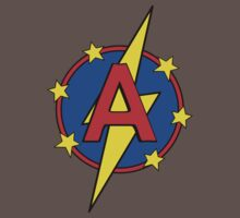 My Cute Little Super Hero - Letter A Baby Tee