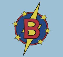 My Little Super Hero - Letter B Baby Tee