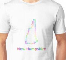 Rainbow New Hampshire map Unisex T-Shirt
