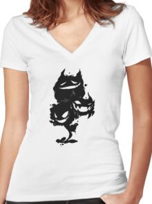 Ghost Trio Women's Fitted V-Neck T-Shirt