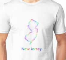 Rainbow New Jersey map Unisex T-Shirt