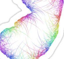 Rainbow New Jersey map Sticker
