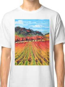 Napa Valley by Lisa Elley. Palette knife painting in oil. Classic T-Shirt