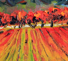 Napa Valley by Lisa Elley. Palette knife painting in oil. Sticker