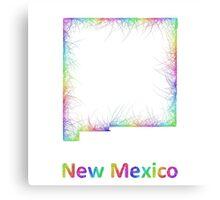 Rainbow New Mexico map Canvas Print