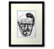 Heisenberg VS Walter White Framed Print