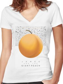 James & The Giant Peach  Women's Fitted V-Neck T-Shirt