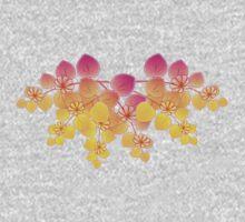 Summer Flowers Rainbow Effect Baby Tee