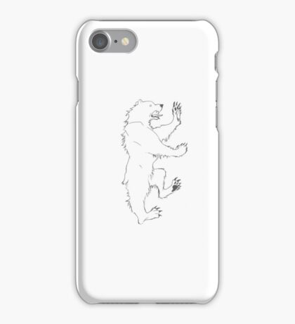 House Mormont Bear Graphic Drawing (Game of Thrones) iPhone Case/Skin