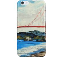 Golden Gate ll by Lisa Elley. Palette knife painting in oil iPhone Case/Skin