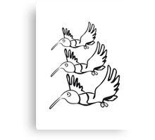 Vogel fliegen lustig formation  Canvas Print