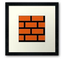 Brick Smash Framed Print