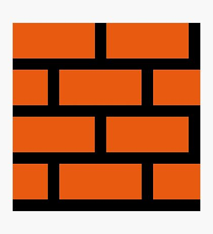 Brick Smash Photographic Print