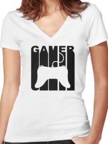 Retro Gamer Women's Fitted V-Neck T-Shirt