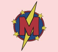 My Little Super Hero - Letter M Kids Tee