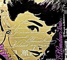Elegant Audrey in Paris by Saundra Myles
