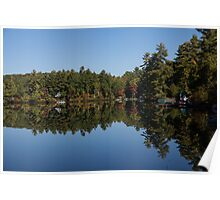 Lakeside Cottage Living - Reflecting on Relaxation Poster