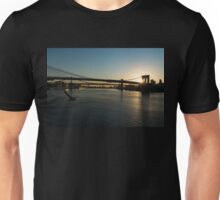 Soaring - Brooklyn Bridge Sunrise with a Seagull Unisex T-Shirt