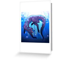 Blue Otter Greeting Card