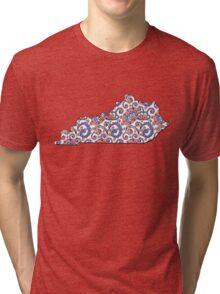Kentucky--Floral! Tri-blend T-Shirt
